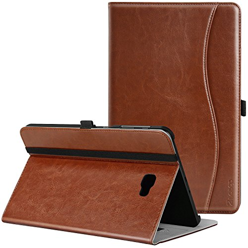 Ztotop Case for Samsung Galaxy Tab A 10.1(2016 NO S Pen Version) - Leather Folio Cover for Samsung 10.1 Inch Tablet SM-T580 T585 with Auto Wake/Sleep and Card Slots, Multiple Viewing Angles,Brown