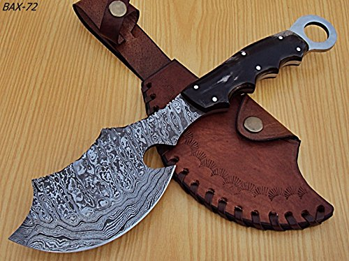 AH-BAX-72- Custom Handmade Damascus Steel 12.2 Inches Axe