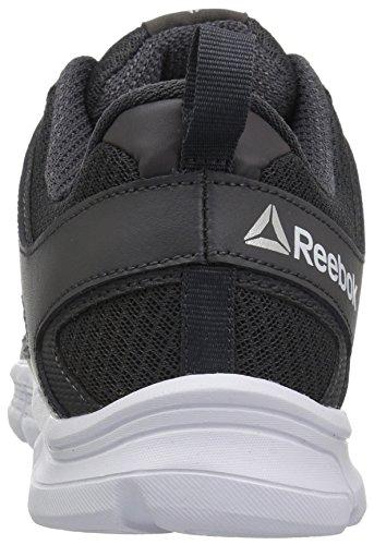 Les Hommes Imprimer Des Chaussures De Course De Pointe Lite Noir / Gris Fonc? / Blanc Reebok IIGeUXy