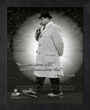 Amazon.com: Vince Lombardi Green Bay Packers Framed ProQuote ...