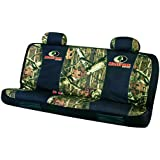 Mossy Oak Mid-Size Camo Bench Seat Cover (Mossy Oak Infinity Camo, Durable Polyester Fabric, Includes One Seat Cover and Two Headrest Covers, Sold Individually)