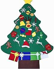 BANGBANG Árbol de Navidad de Fieltro de 91 cm + 26 Piezas de Adornos para Colgar