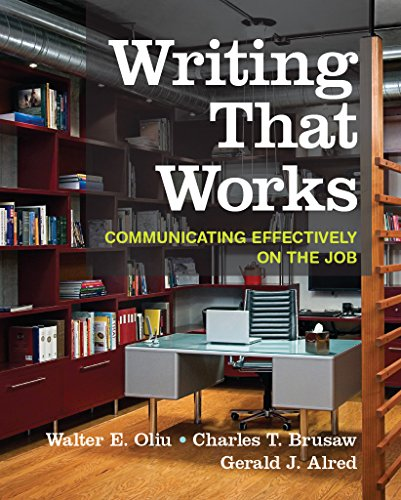 Pdf Reference Writing that Works: Communicating Effectively on the Job