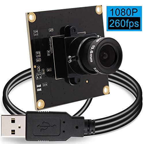 Camera USB 2MP Web Camera Module High Frame 640x480@ 260fps USB Webcamera 1080P Web Camera Module for Surveillance Industrial Home Web Camera USB 2.0 for PC,ATM,Mobile Phone,Kiosk High Speed -