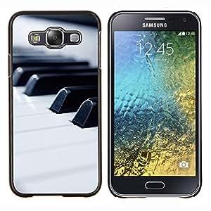 TECHCASE---Cubierta de la caja de protección para la piel dura ** Samsung Galaxy E5 E500 ** --Música de piano Macro Keys