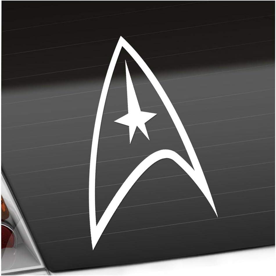 Sternenflotte Abzeichen 10 X 16 Cm In 15 Farben Neon Chrom Sticker Aufkleber Auto