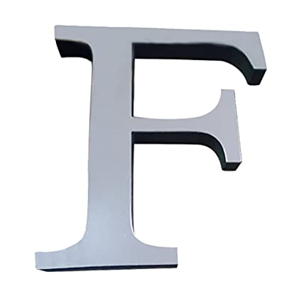 Amazon.com: 26 Letters Hanging Wall Letters, QISC 3D Mirror ...