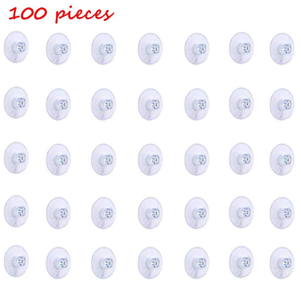 Oficina y Ba/ño Nuluxi Cabeza de Hongo Ventosas Fuerte Adsorci/ón Ventosas de PVC Pl/ástico Potentes Ventosas de Pl/ástico Transparente Suave y F/ácil de Usar Decoraci/ón del Hogar para Cocina 100 Piezas