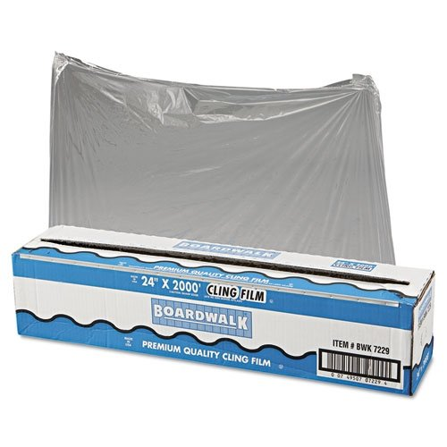 Boardwalk 7229 PVC Food Wrap Film Roll, 24