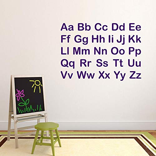 DIY Removable Vinyl Decal Mural Letter Wall Sticker Alphabet Letters for Kids Room Nurdery Classroom Decorations Bedroom Baby -