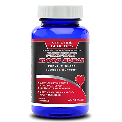 Blood Sugar Control with PERFECT BLOOD SUGAR Supplement, Advanced Natural Formula Assist in Healthy Glucose Levels, Heart Health. Includes Chromium, Alpha Lipoic Acid, Cinnamon and more. 60 Servings (Blood Pressure Diabetes compare prices)