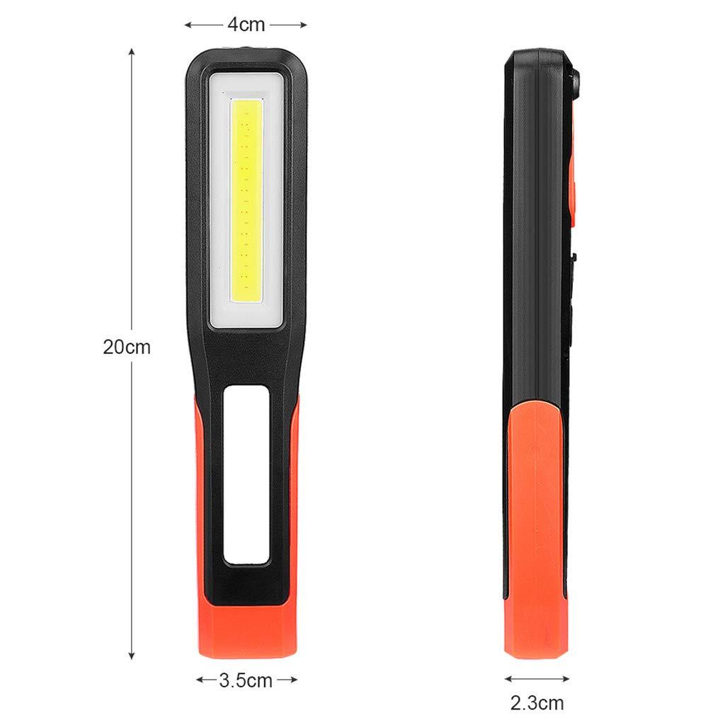 KEYIA Lampe De Torche Rechargeable 1COB LED Lumi/èRe De Travail Magn/éTique Automobile Garage De M/éCanicien
