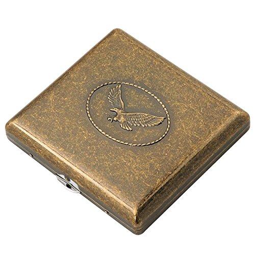 Cig-U Copper Cigarette Case/Box/Holder - Double Sided Flip Open Pocket Tobacco Storage Case - Hold 20 King Sized Cigarettes