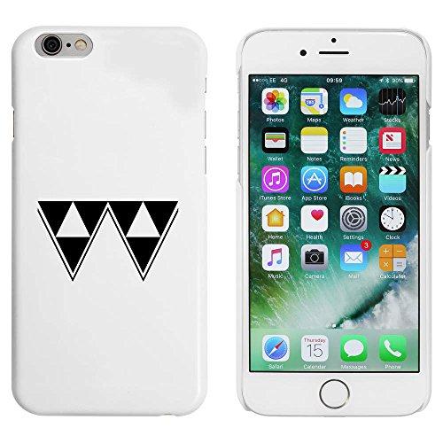 Weiß 'Dreiecksmuster' Hülle für iPhone 6 u. 6s (MC00005998)