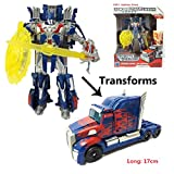 Happy GiftMart Robot to Truck Converting Transformer Optimus Prime With Shield & Sword Accessory (Optimus Prime)