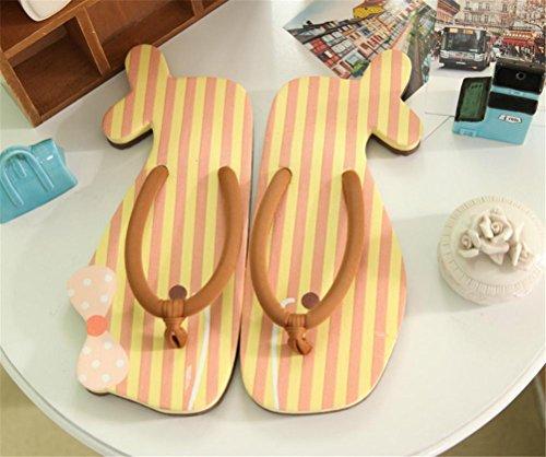mhgao Ladies Casual zapatillas de casa Cute dibujos animados creativo con tapa Flip Flops, 2, medium 1