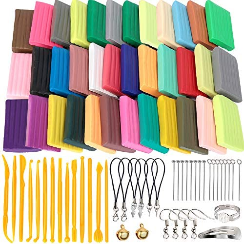 HNYYZL 36 Colors Polymer Clay Oven Bake Clay DIY Modeling Craft Clay 20g/Pieces 14 Sculpting Clay Tools Accessories and Paper Box Perfect Clay Starter Kit for Kids & Adult Stimulate Creativity