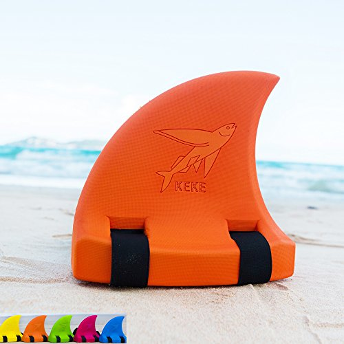 Swim Float for Kids, Shark Fin, Learn to Swim, Safety and Training, Fun Pool Toy Trainer - Orange ()