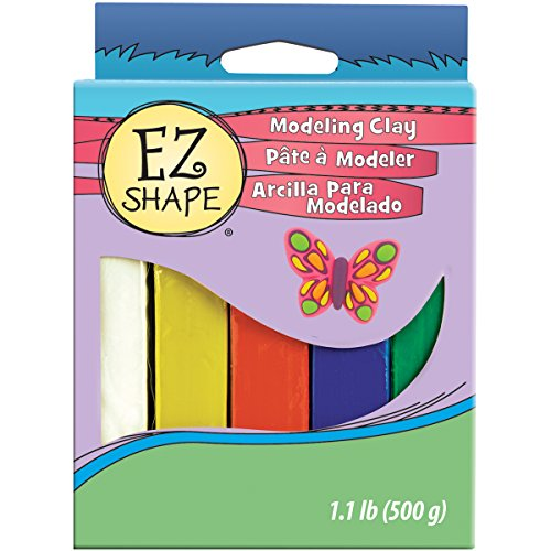 Sculpey NDC56 5-Piece EZ Shape Modeling Clay, Primary Color Set