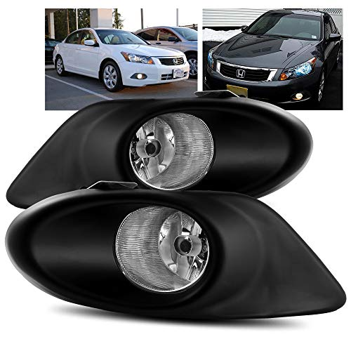 ModifyStreet For 2008 2009 2010 Honda Accord 4Dr Sedan Clear Bumper Fog Lights Kit ()