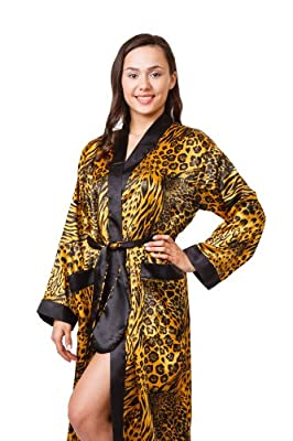 Up2date Fashion Women's Long Satin Robe/Bath Robe