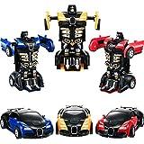 Tatuo 3 Pieces Robot Car Toy 2 in 1 Deformation...