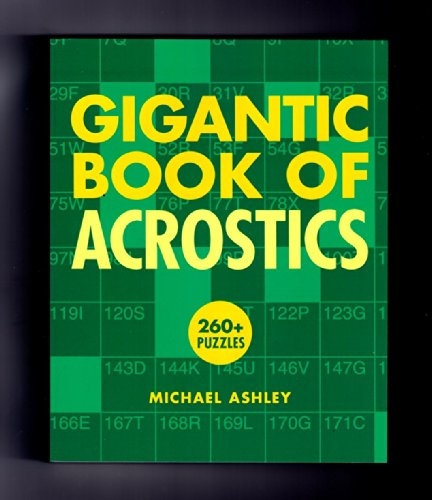 Gigantic Book of Acrostics by Michael Ashley