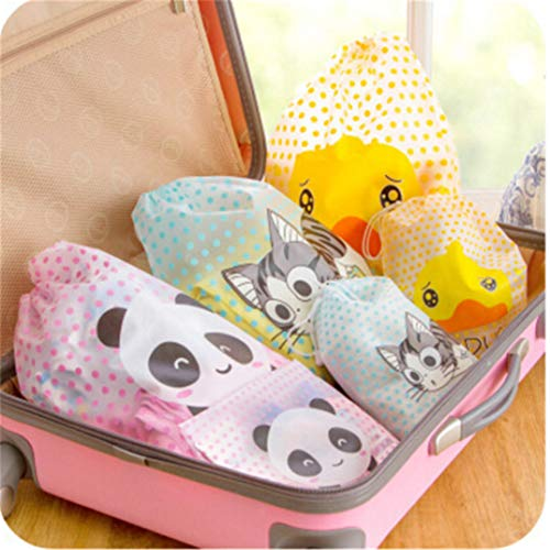 Cartoon Pvc Package Sundries Storage Cute Large Wash Waterproof Drawstring Joofff Transparent Cheese Travel Cat Bag TUY5cCwcq