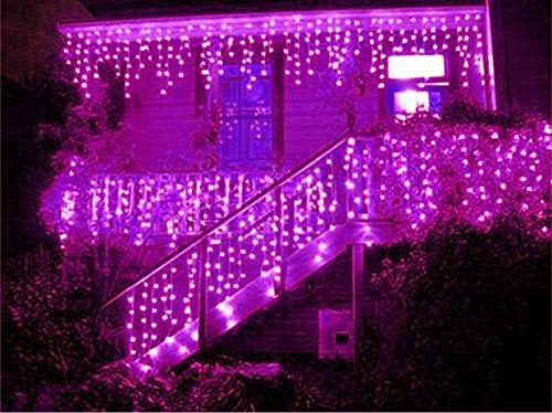 Pink Led Icicle Lights - 9