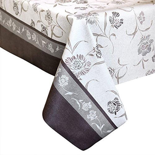 LEEVAN Heavy Duty Waterproof Spillproof Wipe Clean Rectangle Home Decoration Table Cover Tablecloth (54'' x 78''-140x200 cm, Vintage Floral) ()