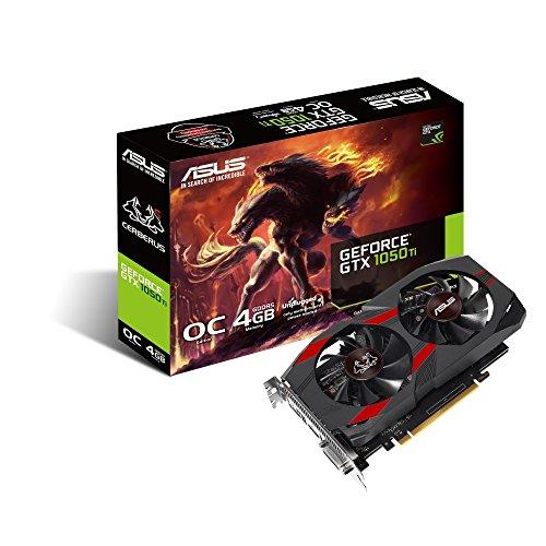 ASUS CERBERUS-GTX1050TI-O4G, Tarjeta Gráfica (GeForce GTX 1050 Ti, 4GB, GDDR5, 128 bit, 7680 x 4320 Pixeles, PCI Express…