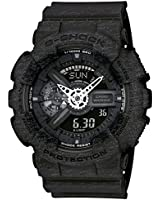 Casio G-Shock Heathered Black Dial Resin Quartz Male Watch GA110HT-1A