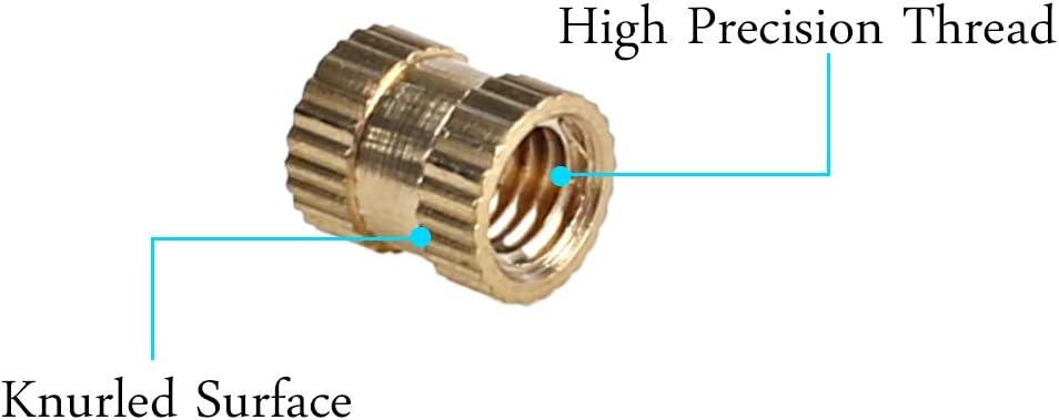 M3x4mm innengewind laiton moletée Filetage environ utilisation Embedded mère 200stk