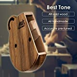 Kalimba 17 Keys Thumb Piano Solid Wood Finger Piano Start Kits African Instrument with Protective Case Tuning Hammer Study Booklet Cleaning Cloth From AKLOT