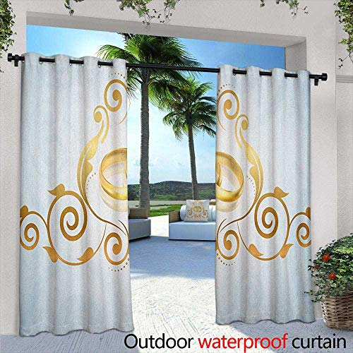 Marilds Wedding Outdoor Window Curtains Vintage Style Victorian Ornaments on Blue Backdrop Rings Classical Celebration Insulated with Grommet Curtains for Bedroom 72