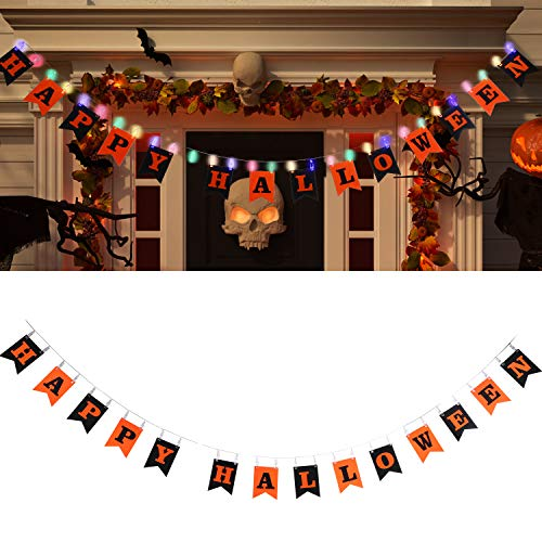Tatuo Happy Halloween Banner Letter Hanging Banner with