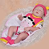 KEIUMI Real Life Looking Reborn Baby Dolls 23 Inch Full Body Silicone Vinyl Babies Girl Sleeping Toy Kids Playmate