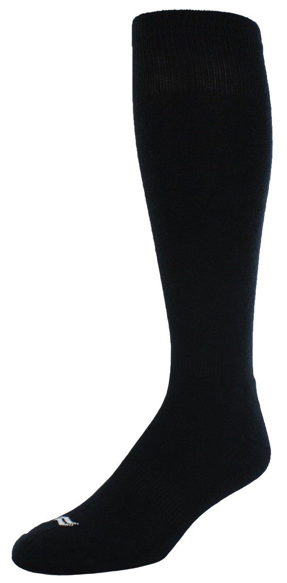 Sof Sole RBI Baseball Team Athletic Performance Socks, Black, Youth Small 10-4.5, 2-Pack
