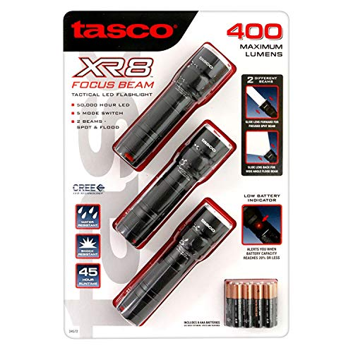 Tasco XR8 Focus Beam Tactical LED Flashlight 3 - Focus Beam Flashlight
