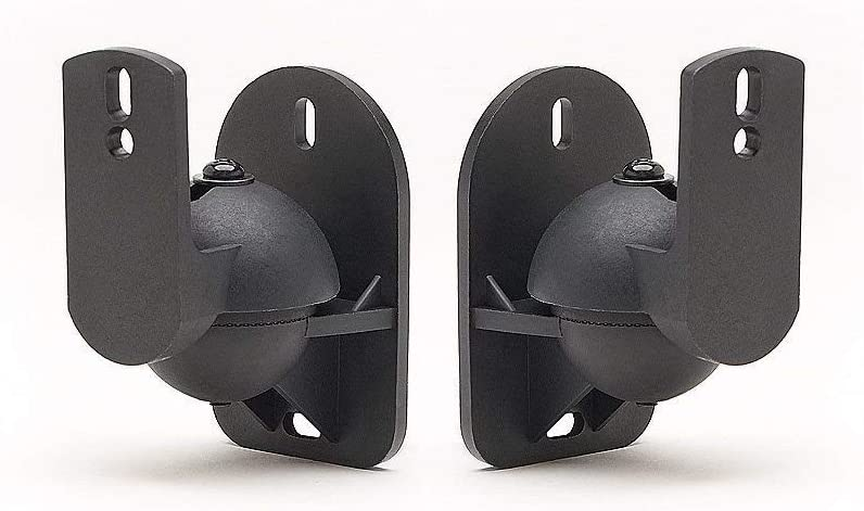 2 Pack of Black Speaker Wall Mount Brackets for Bose, Sony, Panasonic, Samsung and More