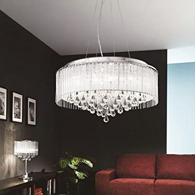 LightInTheBox Elegant Crytal Pendant Light with 8-Lights in Cylinder Shade Drum Ceiling Lamp Fixture