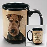 Dog Breeds (A-K) Airedale 15-oz Coffee Mug Bundle with Non-Negotiable K-Nine Cash by Imprints Plus (001)