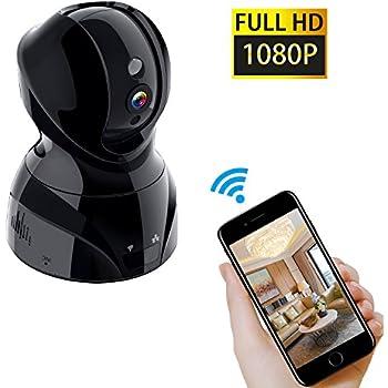 NexGadget1080PWirelessWifiSecurityCamera,HomeVideoMonitoringSurveillanceCamerawithNightVision,Pan/Tilt,Two-WayAudio,MotionDetection