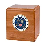 Wood Cremation Urn - Mahogany Freedom Military (Marines)