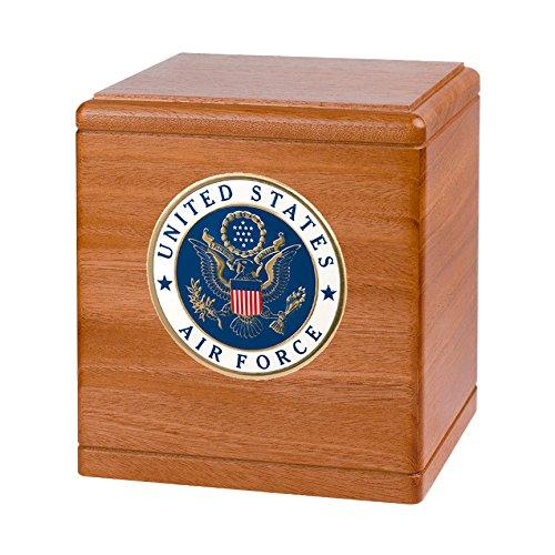 Wood Cremation Urn - Mahogany Freedom Military (Air ()