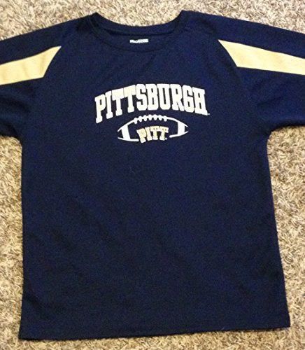 University of Pittsburgh Kid's Youth Large Blue Football Jersey Pitt Shirt 12 - 14
