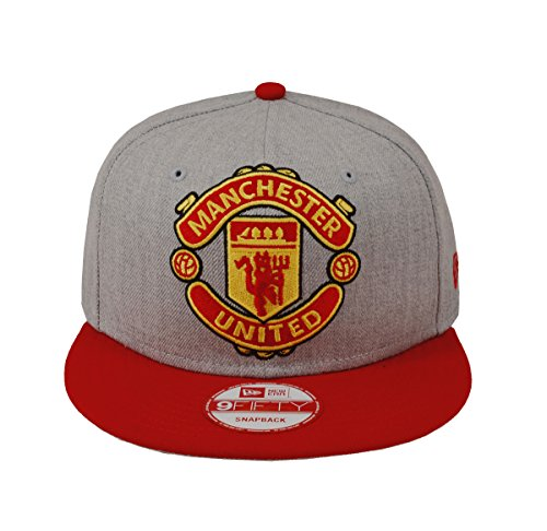 New Era 9Fifty Hat Manchester United F.C. Soccer League Club Grey/Red Cap