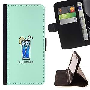 Dragon Case - FOR HTC One M8 - blue lemonade - Caja de la carpeta del caso en folio de cuero del tir¨®n de la cubierta protectora Shell