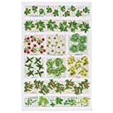 Now Designs Tea Towel, Garden Plot Print