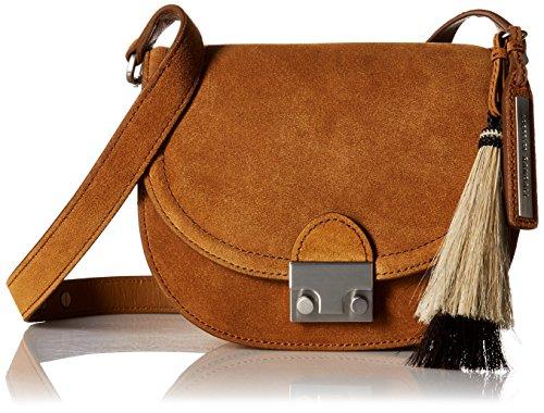 Sienna Saddle Leather (LOEFFLER RANDALL Saddle (Suede/Horse Hair), Sienna/Natural Black)